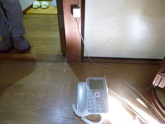電話配線移動工事の画像